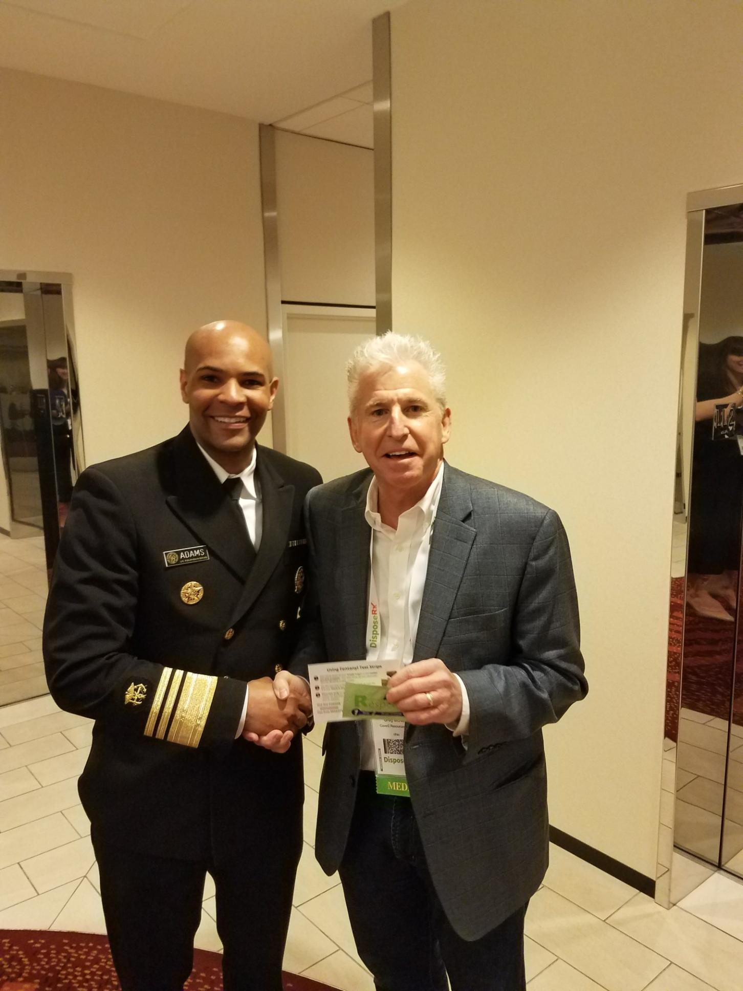 Surgeon General and Greg at Rx Summit 2018